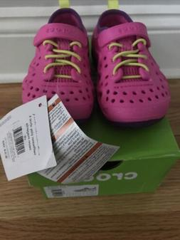 Crocs Toddler Kids Swiftwater Play Shoes Pink Girls Size 8 W