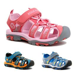 Unisex Kids Boys Girls Open Toe Summer Leather Beach Flat Sh