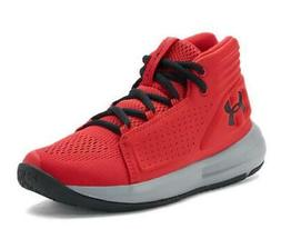 Under Armour Torch Mid Kids Basketball Shoes Red Athletic Sn