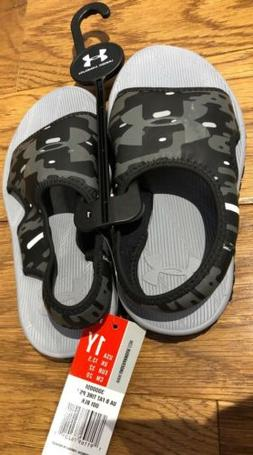 Under Armour UA Boys Girls Size 1Y Kids Fat Tire II Sandals