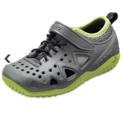 Crocs Unisex-Kids Swiftwater Play Shoe K Sneaker Slate Gray