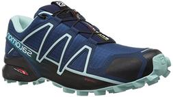 Salomon Women's Speedcross 4 W Trail Running Shoe, Poseidon,