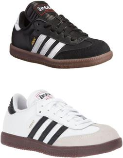 adidas Youth Samba Classic Leather Soccer Shoe, 2 Colors