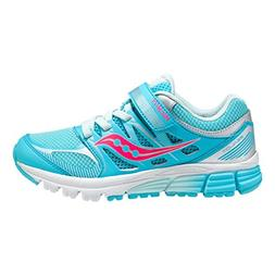 Kids Saucony Zealot, Turquoise/Silver, 1
